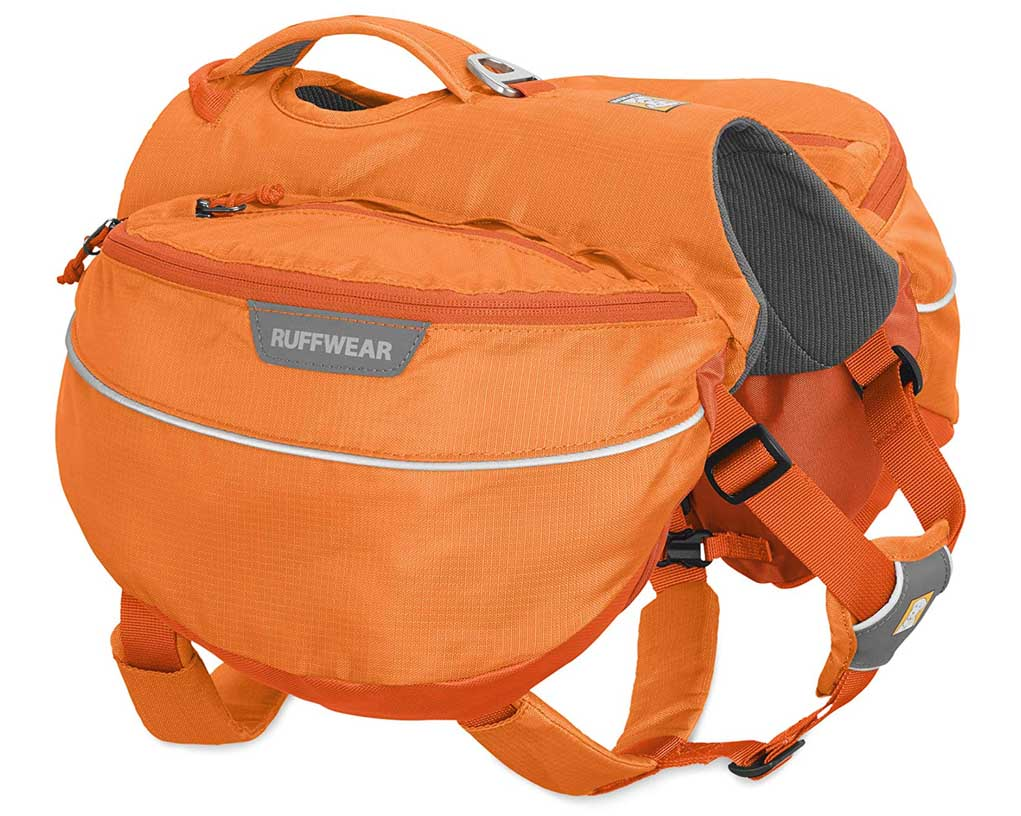 8 Best Saddlebags for Dogs: Backpacks for Adventurous Canines! – heydjangles.com – best dog saddle bags, dog backpacks with saddle bags, tactical dog backpacks, dogs that hike, Ruffwear Approach pack.
