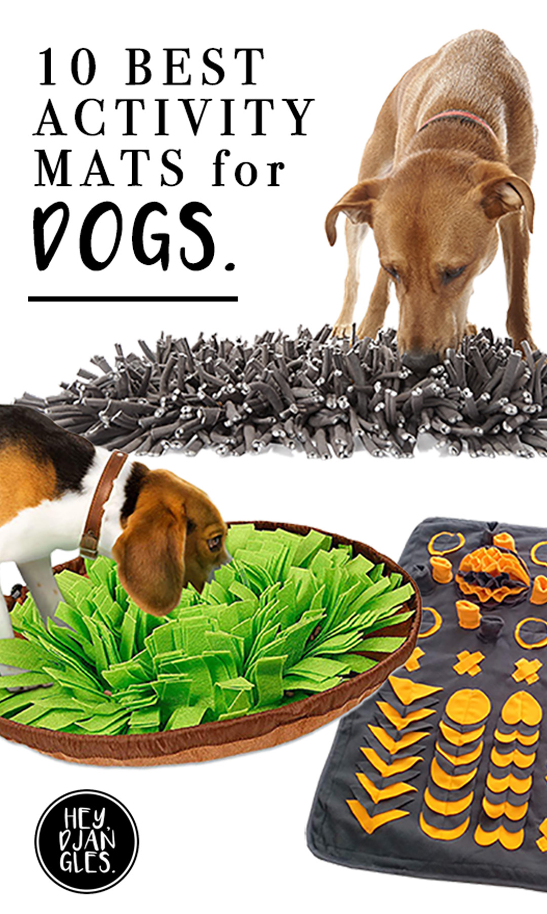 10 Best Boredom Busting Activity Mats for Dogs - heydjangles.com - dog boredom busters, snuffle mats, canine enrichment toys #doglover #dogtoys