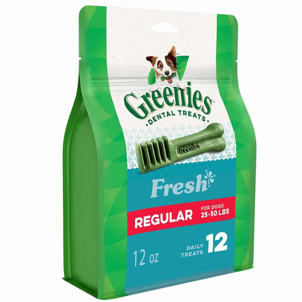 best dog treats for bad breath - greenies