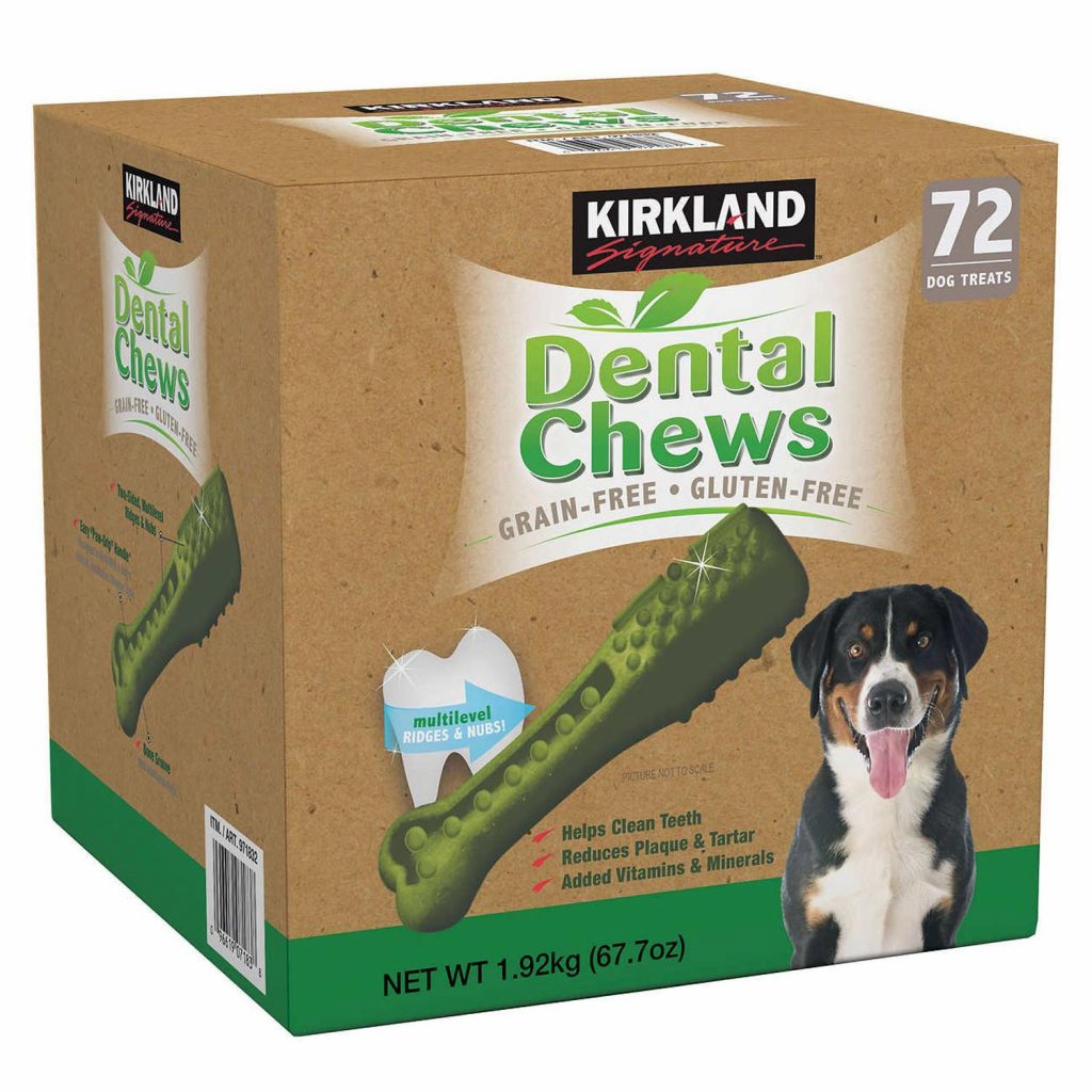 best dog treats for bad breath - kirkland dental chews