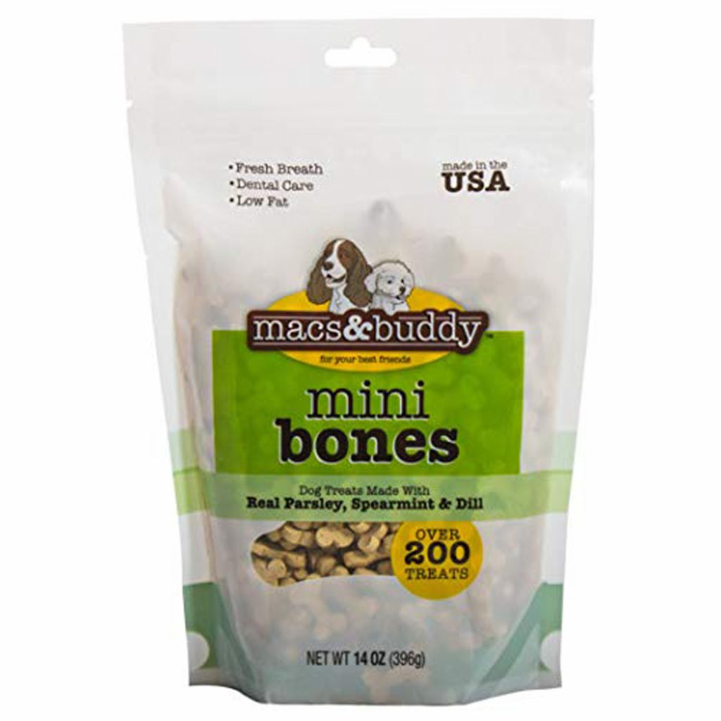 best dog treats for bad breath - mini bones