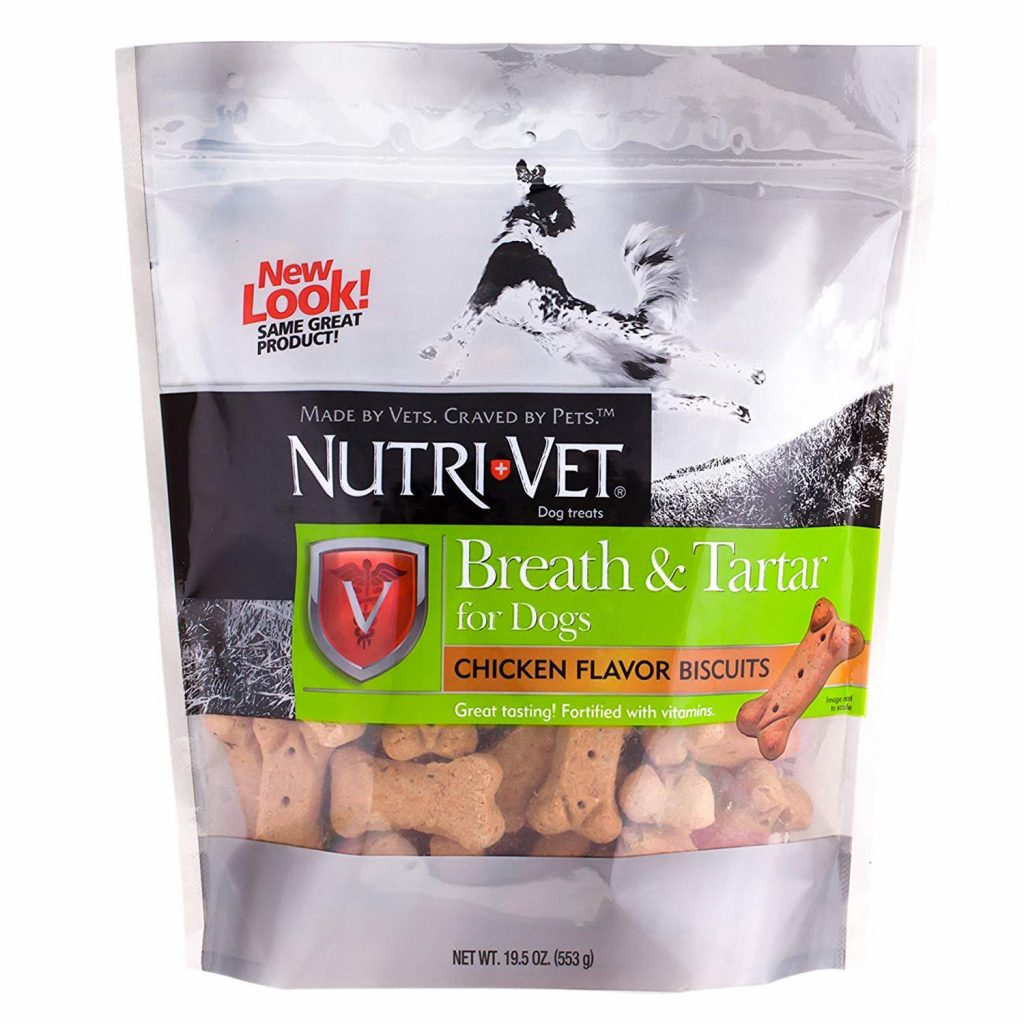 best dog treats for bad breath - nutrivet breath and tartar