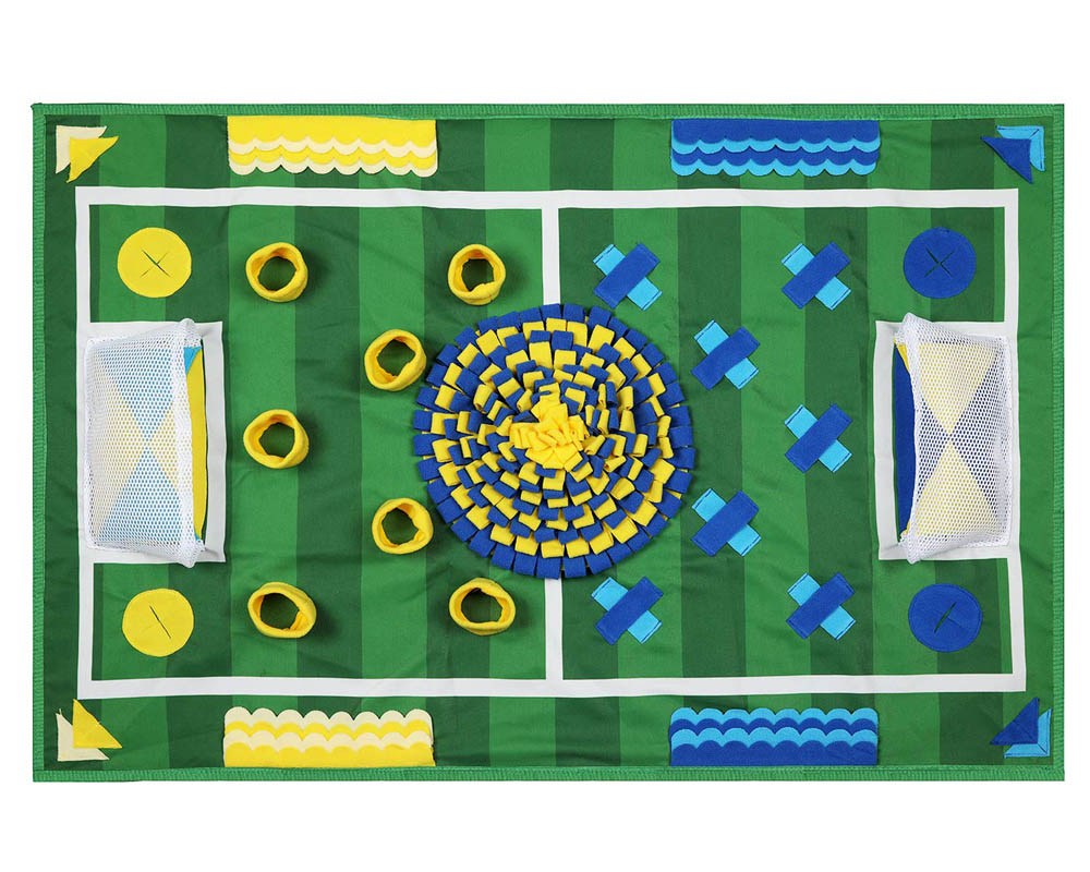 10 Best Boredom Busting Activity Mats for Dogs - Zacro Dog SNuffle Mat Football Field