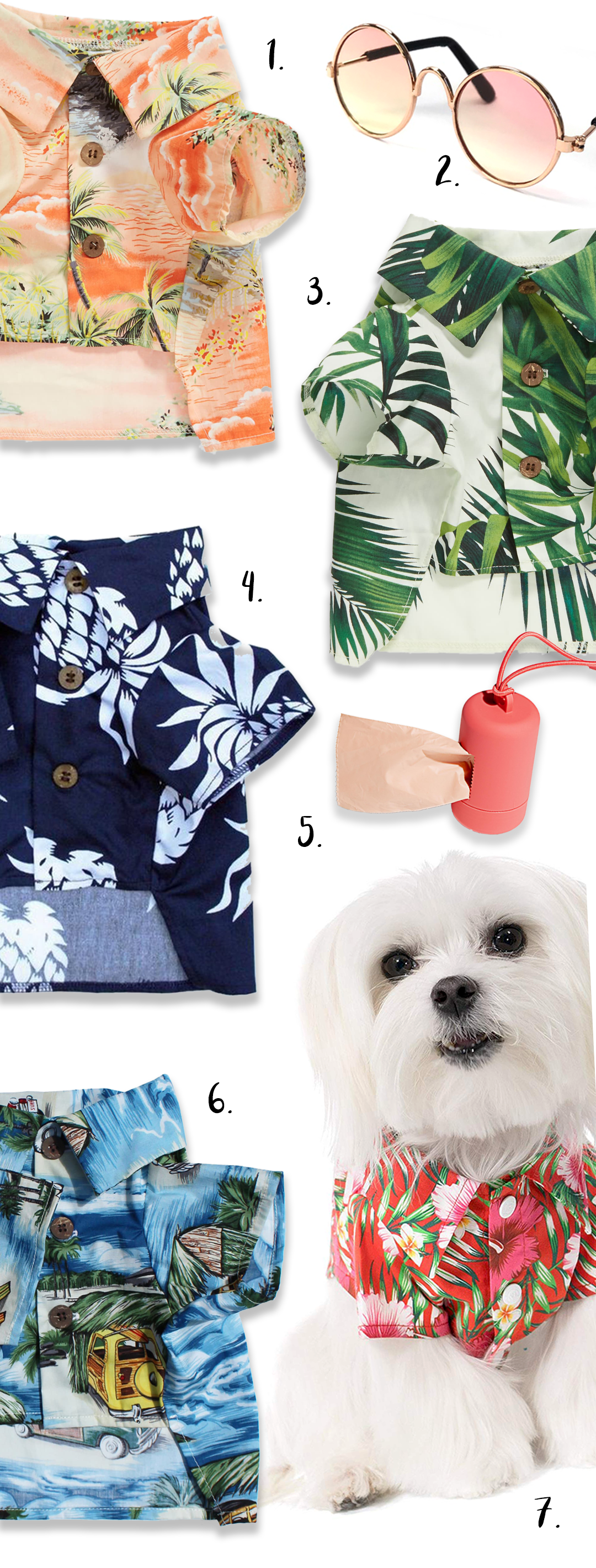 HAWAIIAN SHIRTS FOR DOGS - SUMMER SHIRTS FOR STYLISH DOGS - heydjangles.com - dog Hawaiian shirts, dog threads, clothing for dogs, BBQ shirts, Aloho shirts for dogs #summersyle #doglover
