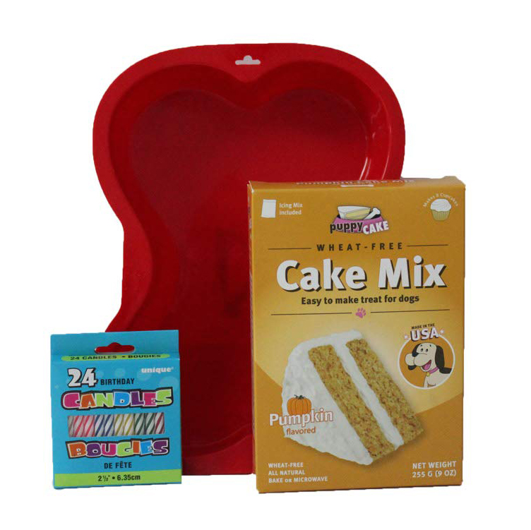 dog cake mix kit - pumpkin