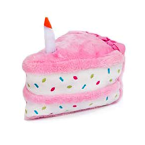 Birthday cake plush toy for dogs