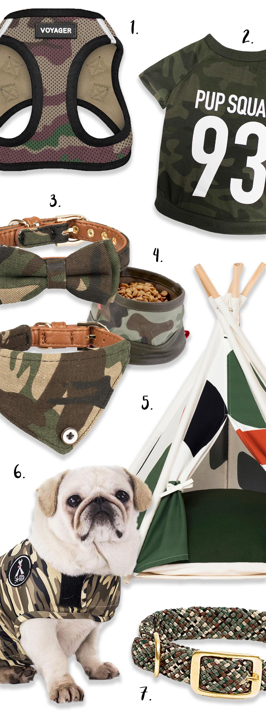 14 Stylish Camo Dog Shirts and Accessories - heydjangles.com - camouflage print dog gear, camo dog clothing, camo dog accessories. #camouflage #doglover