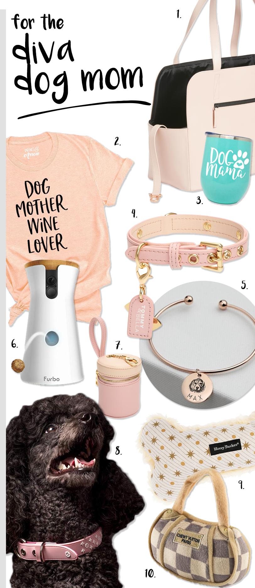 Ultimate Dog Parent Gift Guide – Gifts for 8 Types of Dog Parent! heydjangles.com - Gift ideas for the diva dog mom. #dogmomgifts #divadog
