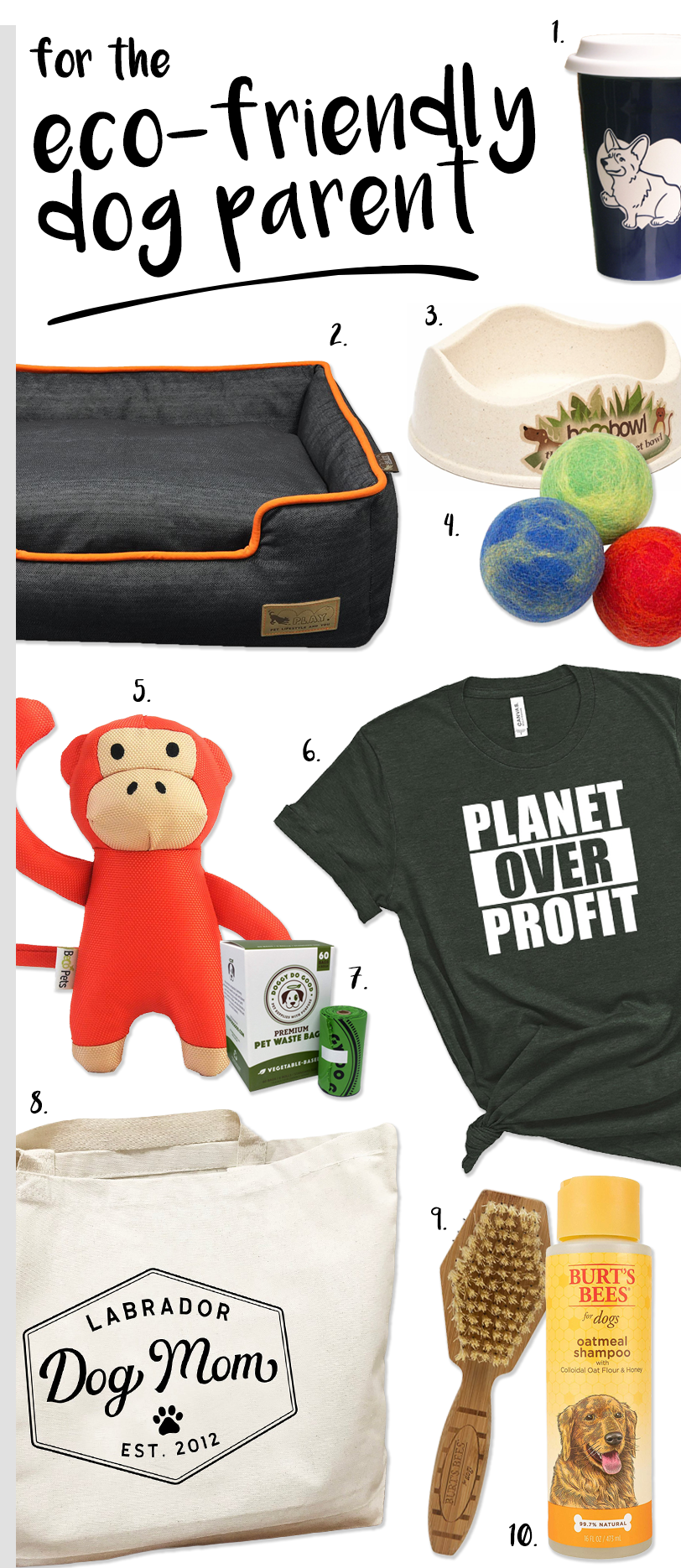 Gift ideas for the eco-friendly dog parent #dogparentgifts #ecofriendlygifts