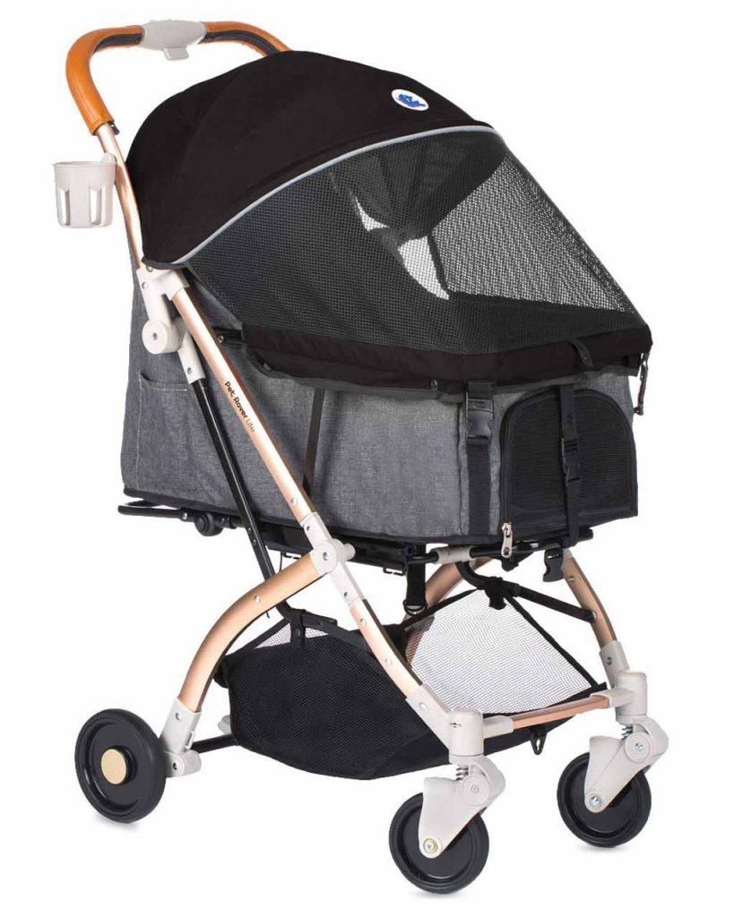 Luxury dog stroller, HPZ Pet Rover Prime 3-in-1 Pet Stroller