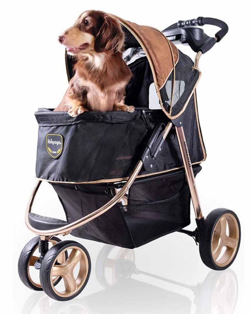 Luxury dog stroller, Ibiyaya 3 Wheel Dog Stroller