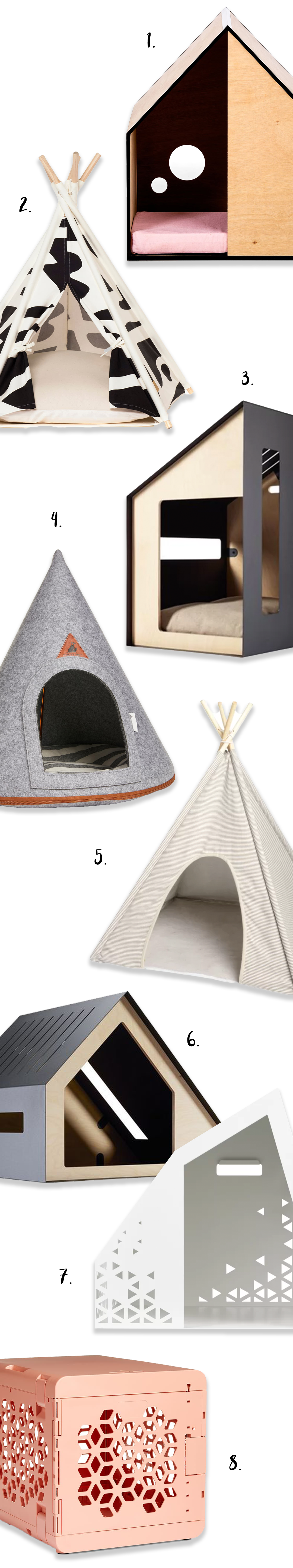 8 Modern Indoor Dog Dens for Stylish Pooches - heydjangles.com - luxury indoor dog houses, modern dog kennels, dog teepees.