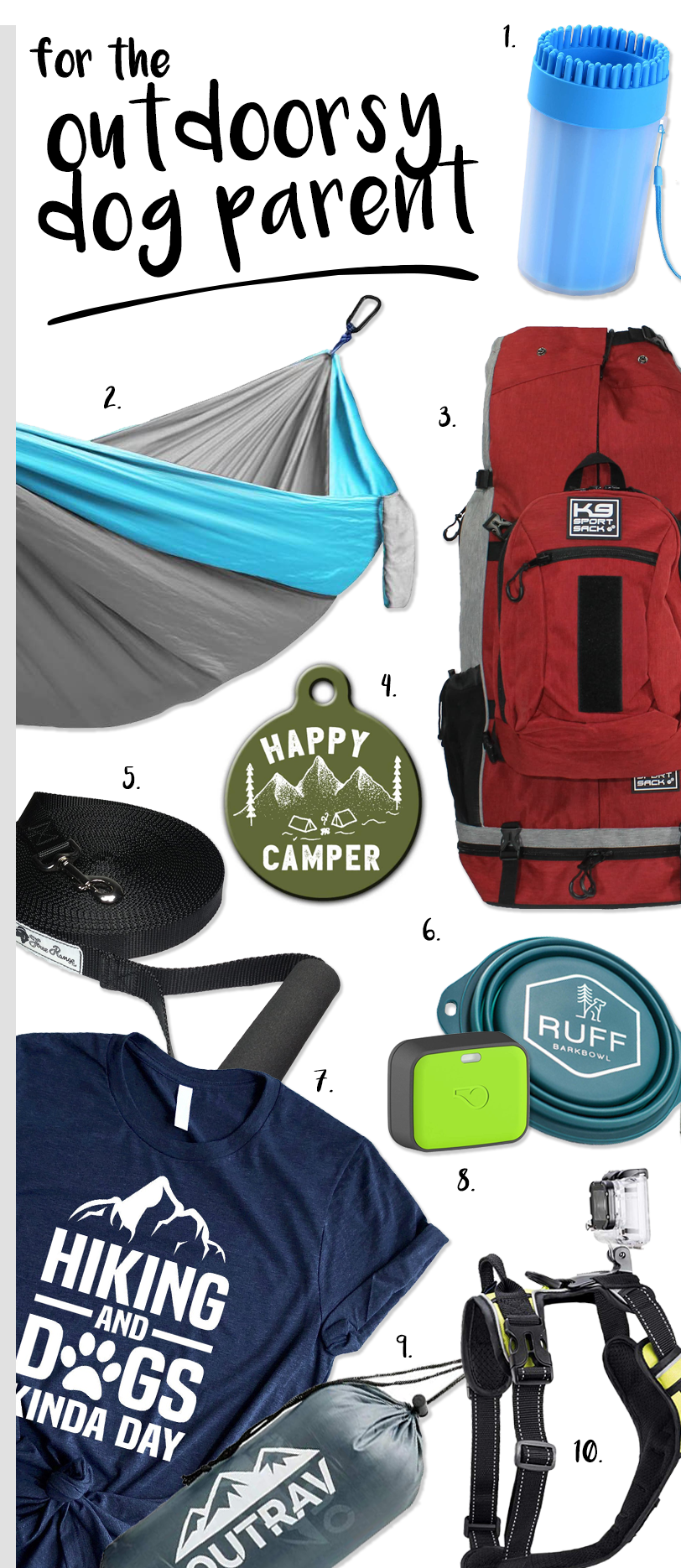 Gifts for the outdoorsy dog parent. #dogparentgifts