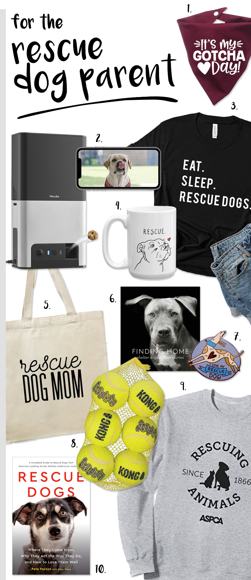 Gift ideas for rescue dog parents #dogparentgifts #adoptdontshop
