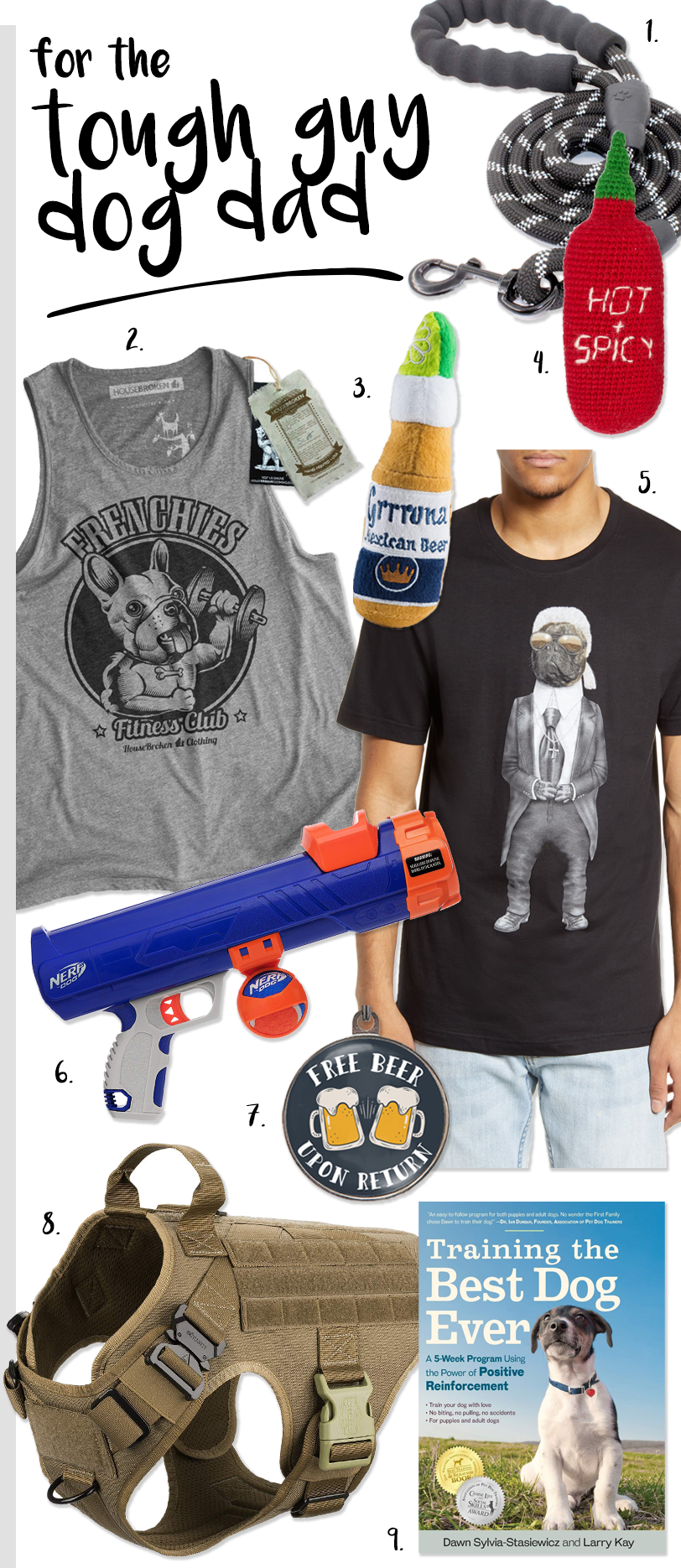 Ultimate Dog Parent Gift Guide – Gifts for 8 Types of Dog Parent! heydjangles.com - Gift ideas for the tough guy dog dad. #dogdadgifts