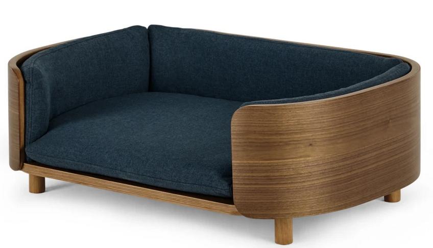 'Kyali' Dog Sofa in Walnut/Navy from Made.com