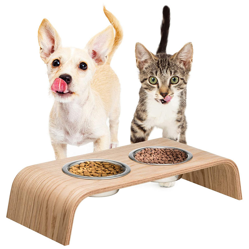 Midcentury Raised Pet Feeder