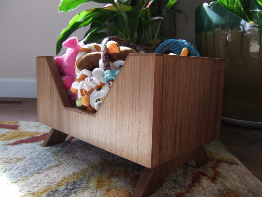 MidCentury Modern Dog Toy Box