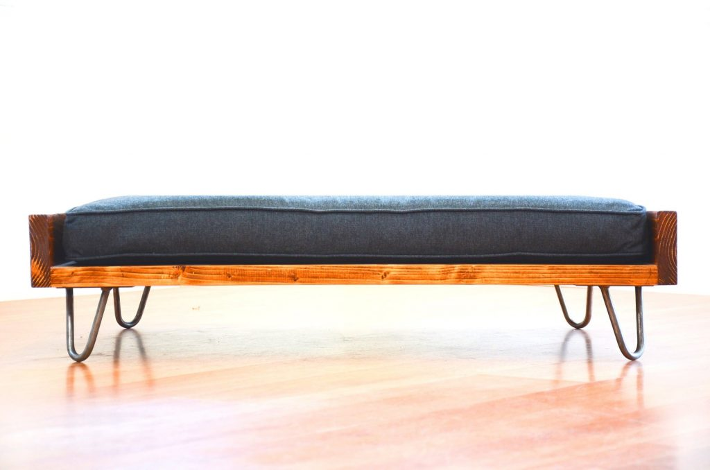 MidCentury Modern Pet Bed with hairpin legs