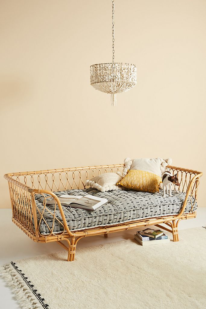 """Boho Rattan """"Venus"""" Daybed from Anthropologie"""