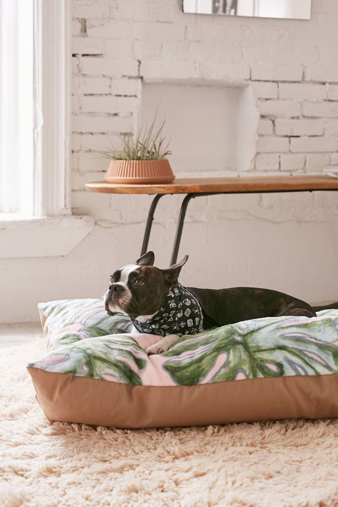 17 Stylish Boho Dog Beds You & Your Fur Kids Will Love - Boho chich dog bed floor pillow.
