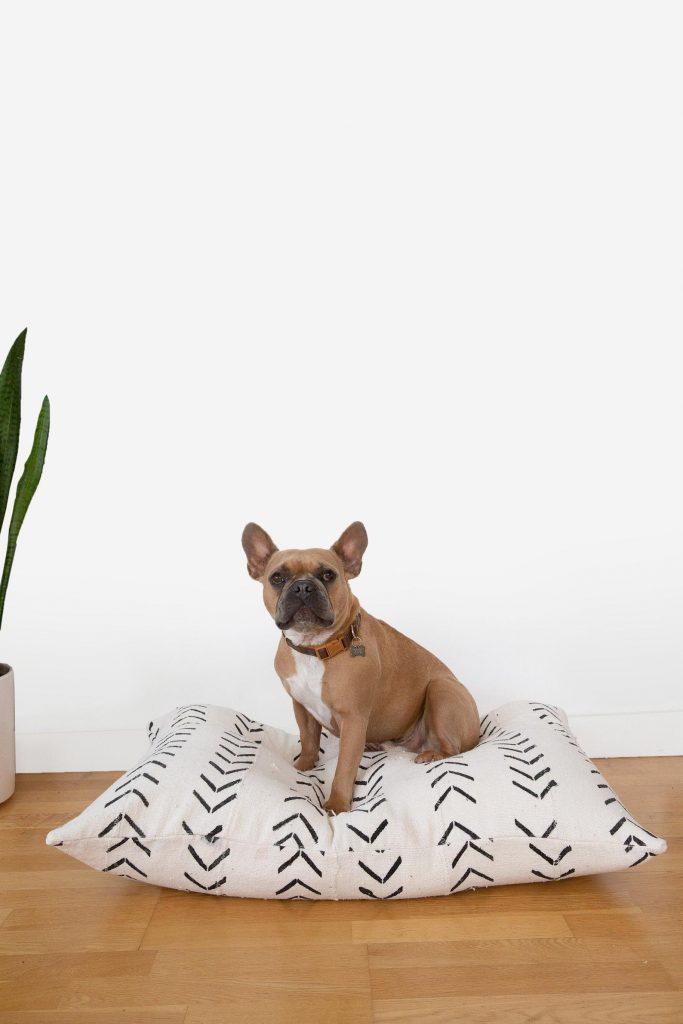 Mudcloth Boho Dog Bed.