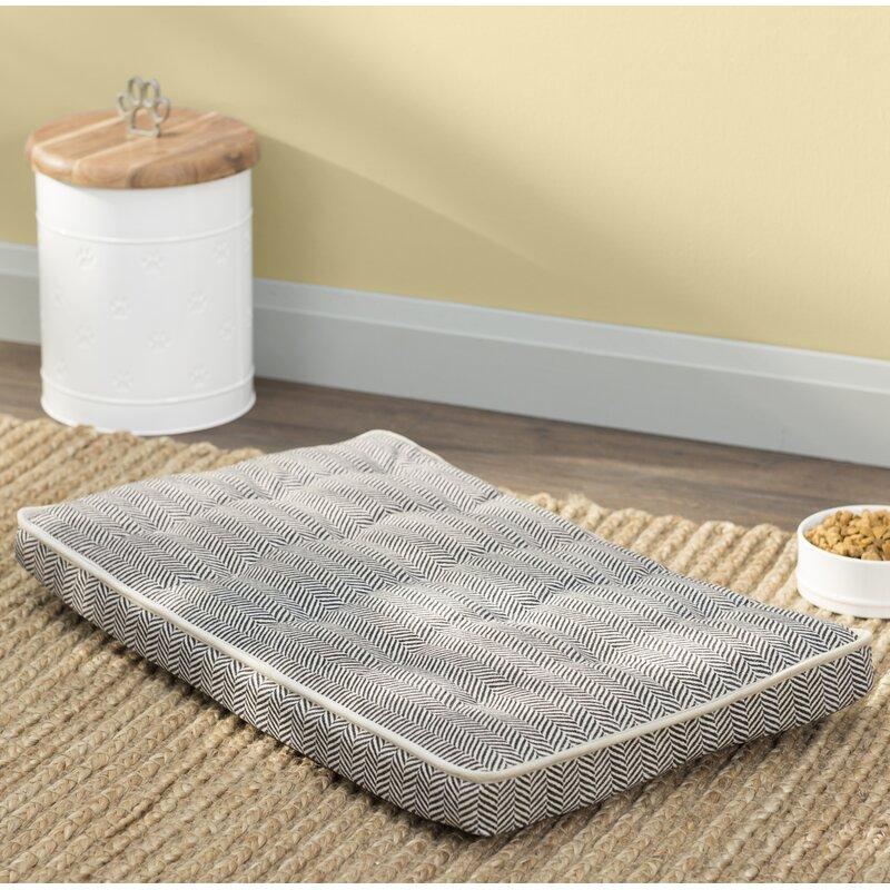 Stylish dog crate mattress.