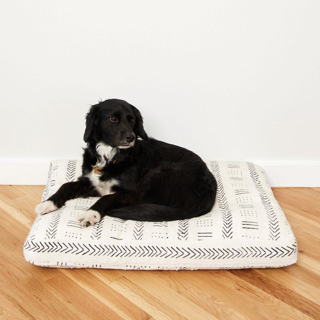 Mudcloth Boho Dog Bed Pillow.