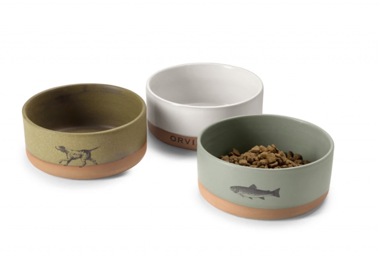Ceramic Dog Bowls available from Orvis