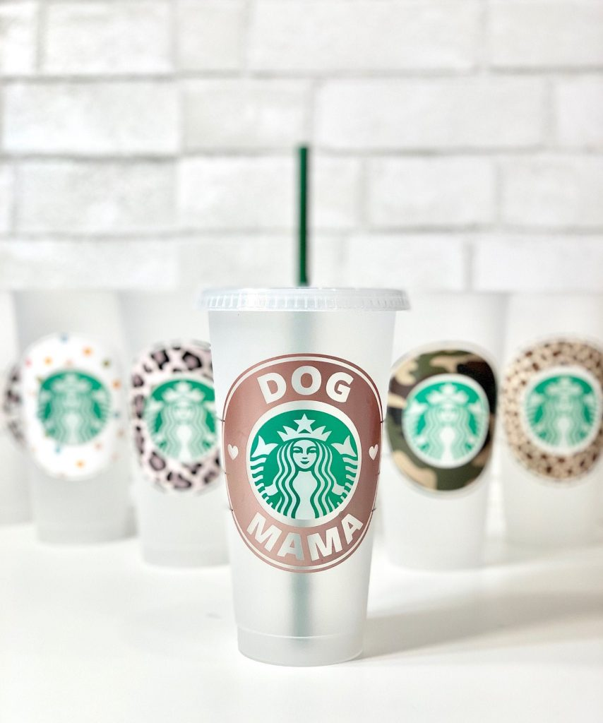 Dog Mama Starbucks Cold Cup from Happy Tops via Etsy, Coffee Dog Accessories.