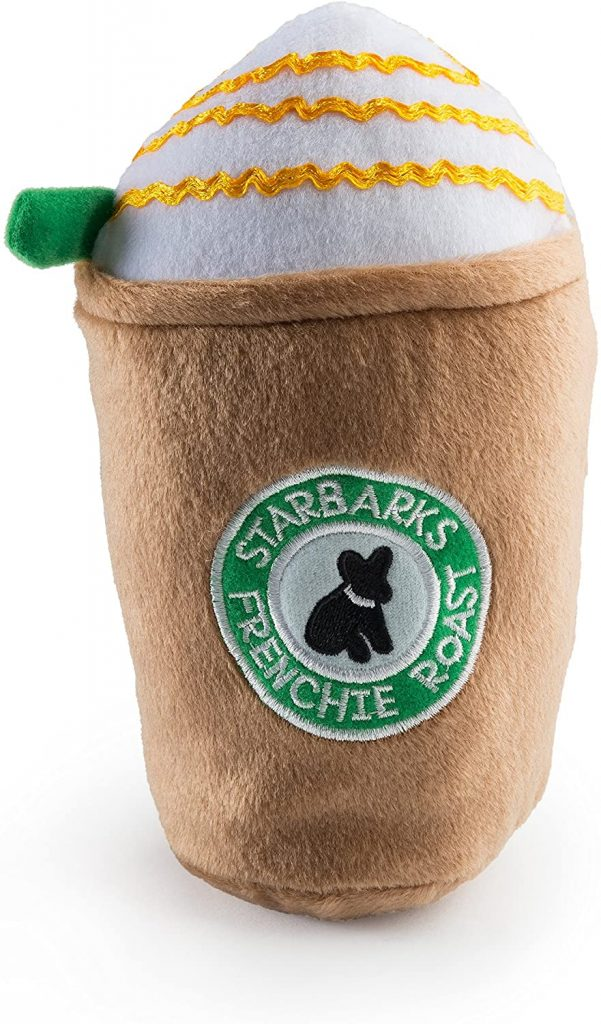 Haute Diggity Dog Starbarks Dog Coffee Toy via Amazon.