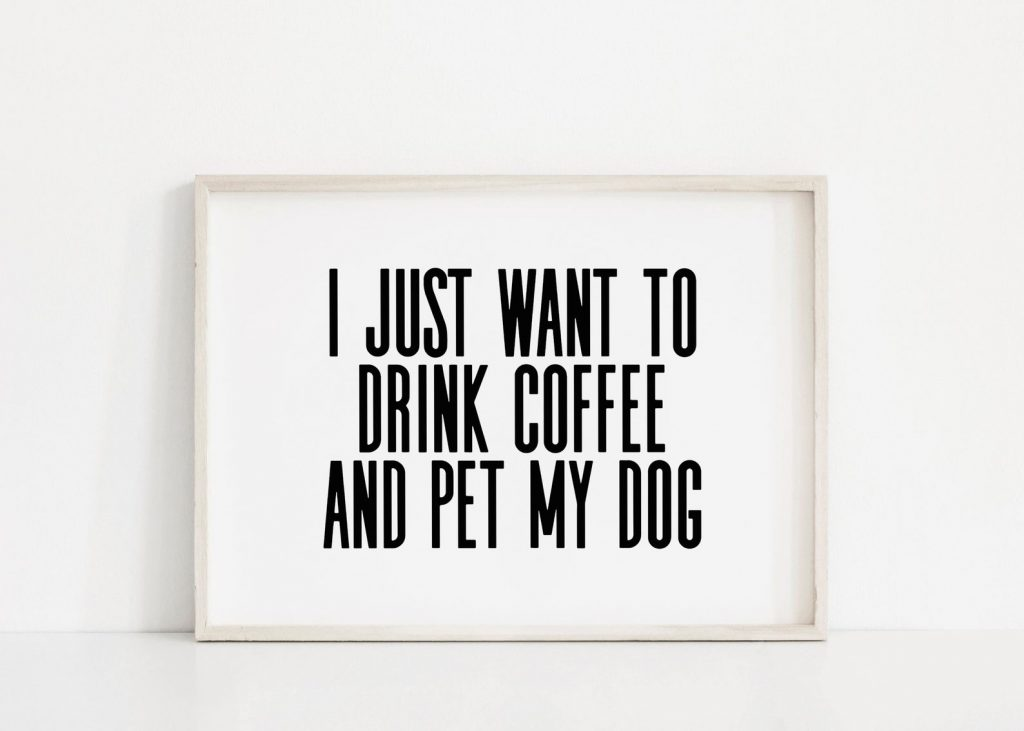 Dog Coffee Wall Art from Sincerely By Nicole via Etsy.