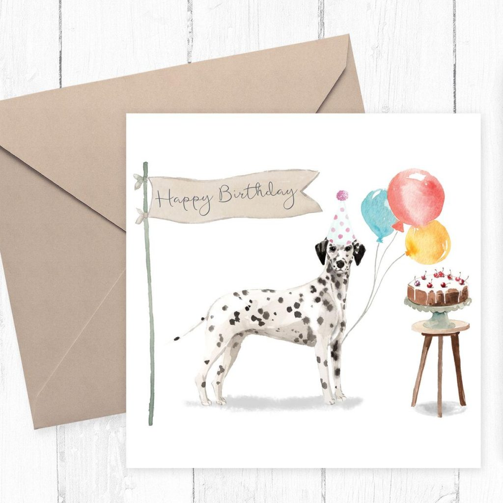 Dalmatian Birthday Card via BeadazzleDesigns on Etsy.