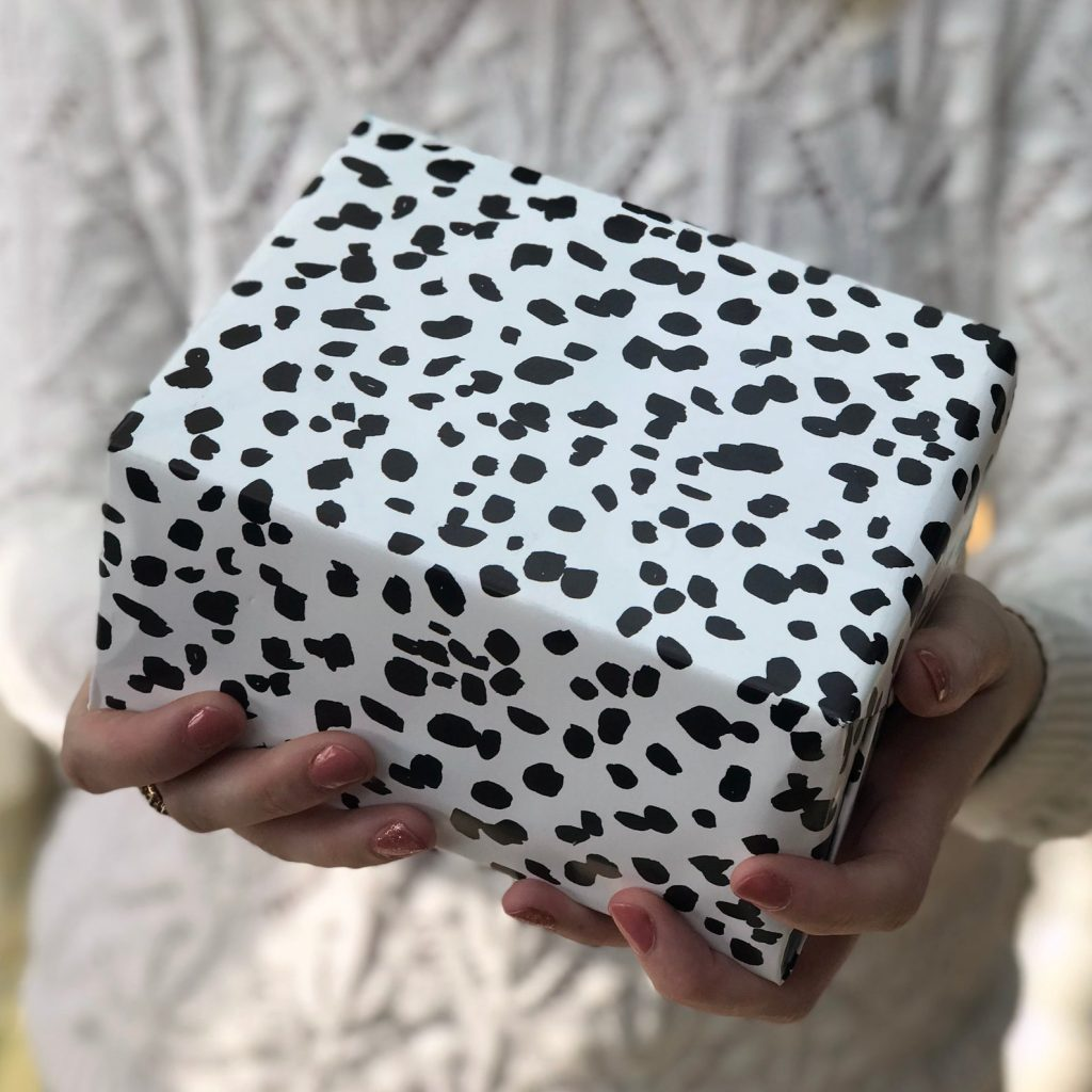 Dalmatian Wrapping Paper via AlexiaClaire on Etsy.