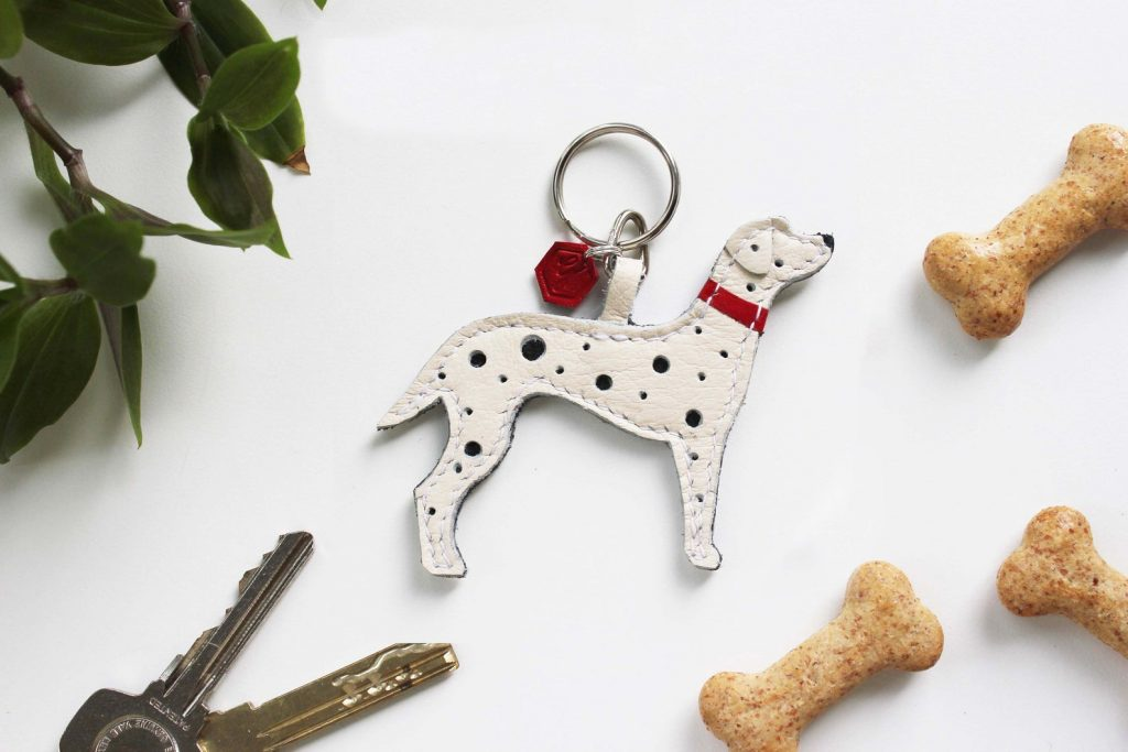 Dalmatian Gifts, Dalmatian Keychain via GrayphicDesign on Etsy.