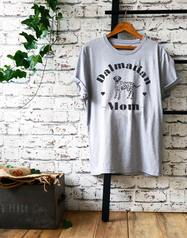 Dalmatian Gifts, Dalmatian Mom T-Shirt via StagandPeachCo on Etsy.