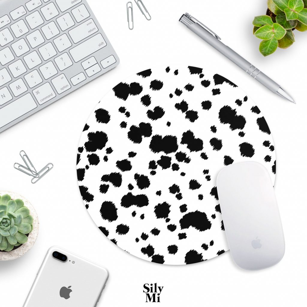 Dalmatian Print Mouse Pad via ShopSilyMi on Etsy.