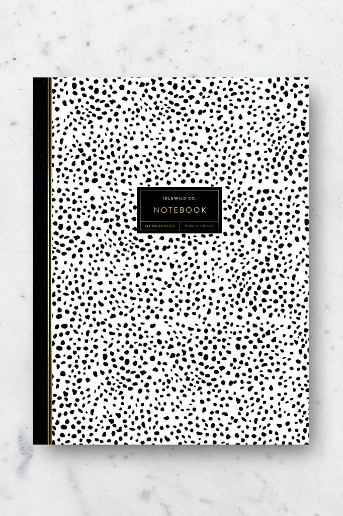 Dalmatian Print Notebook Stationery via IdlewildCo on Etsy.