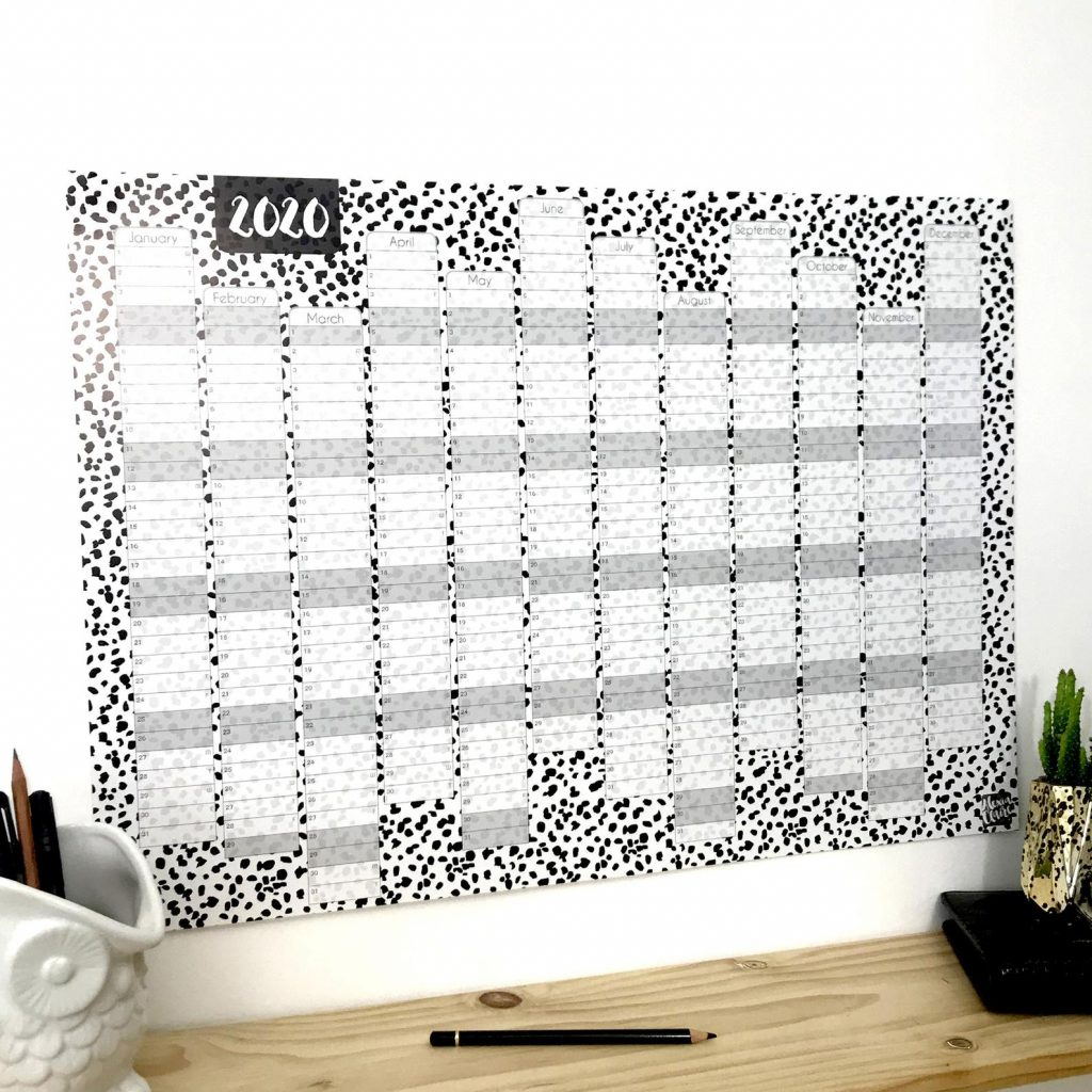 Dalmatian Wall Planner via AlexiaClaire on Etsy.