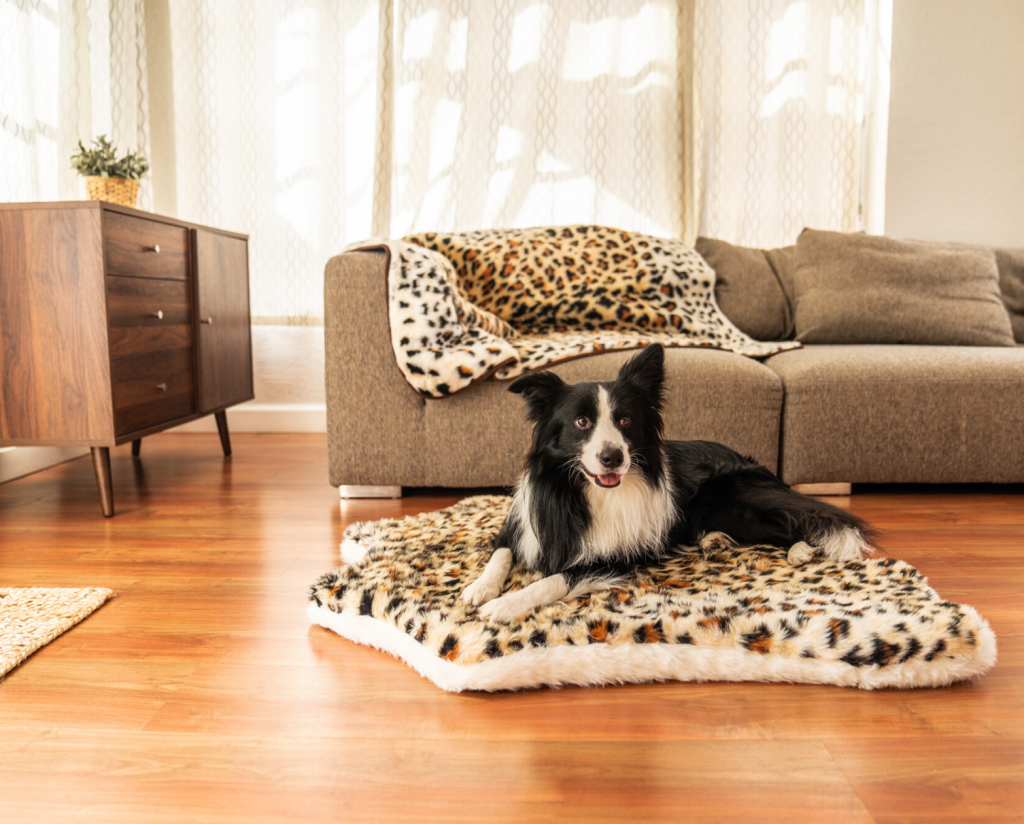 Leopard Memory Foam dog PupRug.