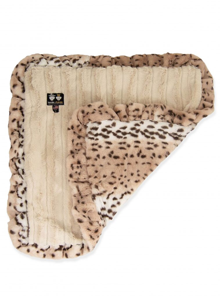 Faux Fur Snow Leopard Print Dog Blanket available from Wayfair.