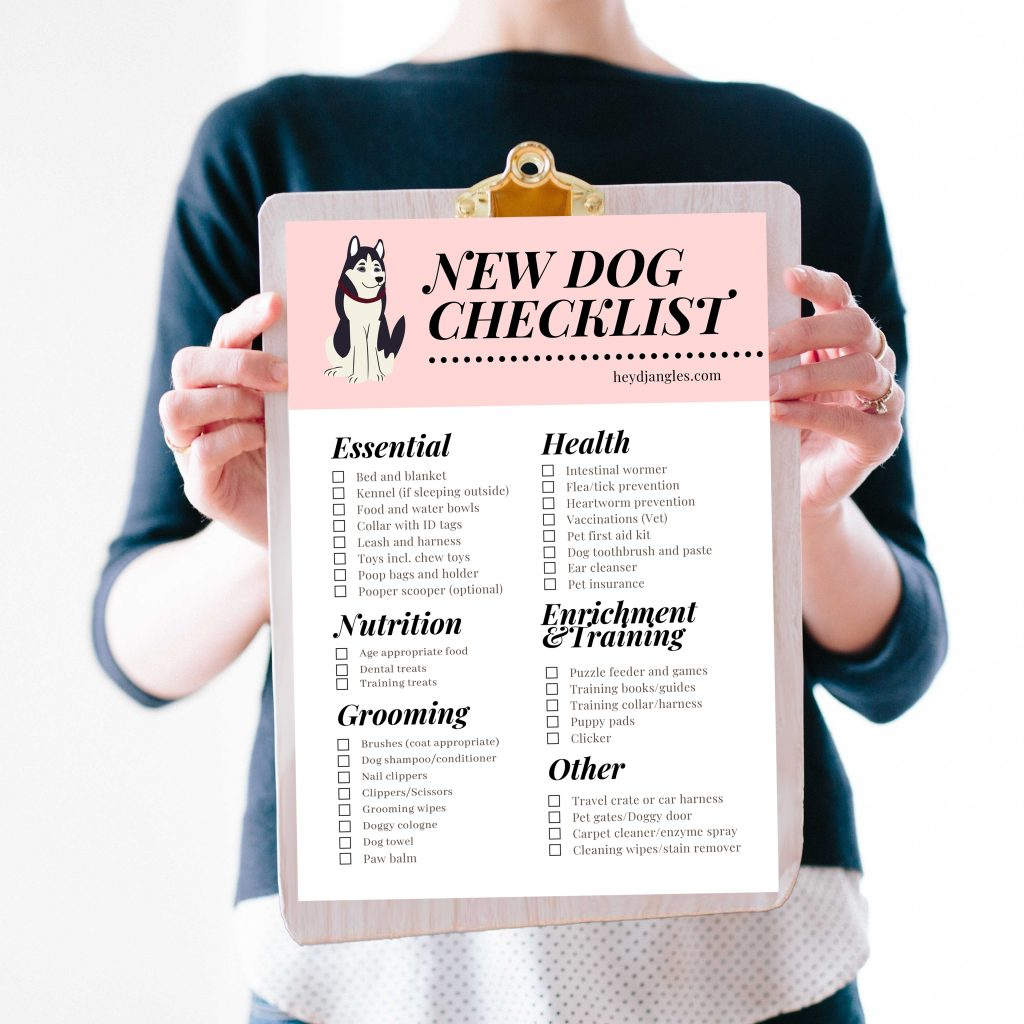 100 Popular TV Show Dog Names + BONUS New Dog Checklist