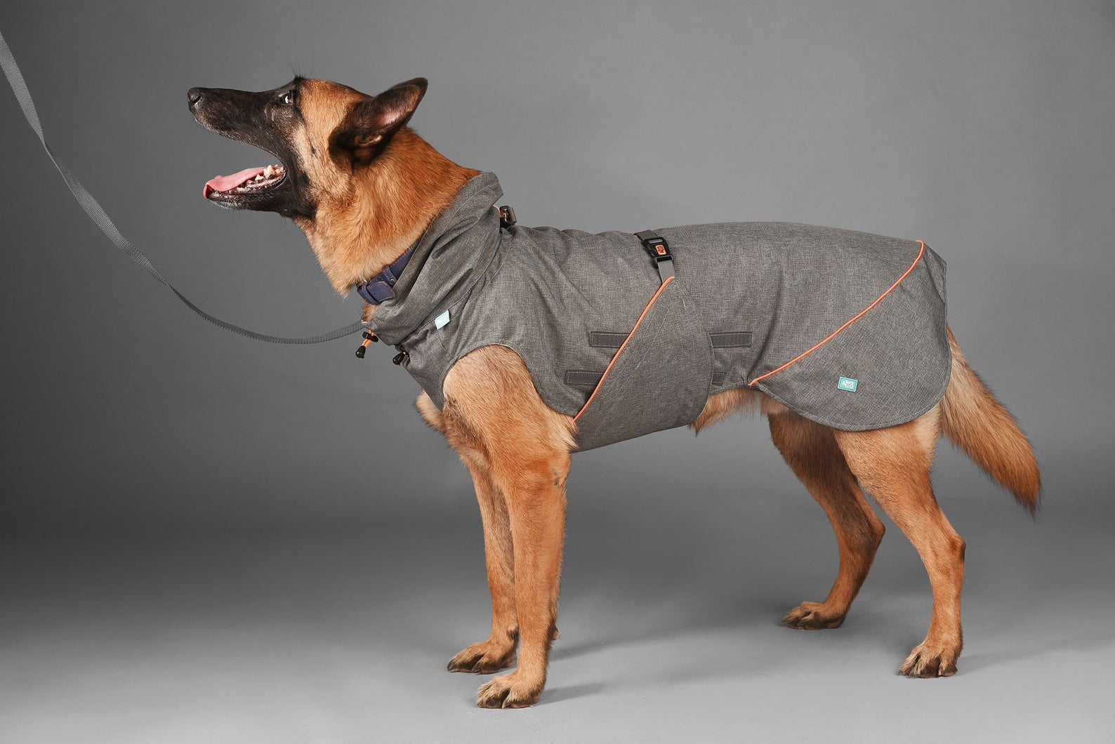 BarkAndGo Large Breed Reflective Waterproof Dog Raincoat via Etsy, Raincoats for large dogs.