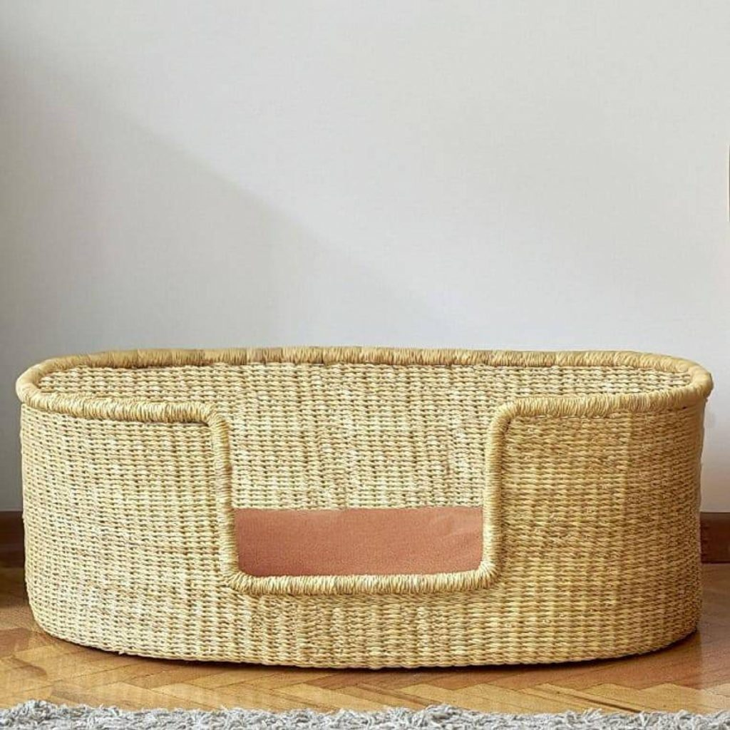 Handwoven Dog Bed from Zaare Folks - Image via Etsy.