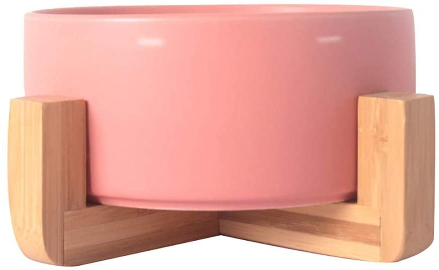 Pink Weighted Dog Bowl via Amazon.
