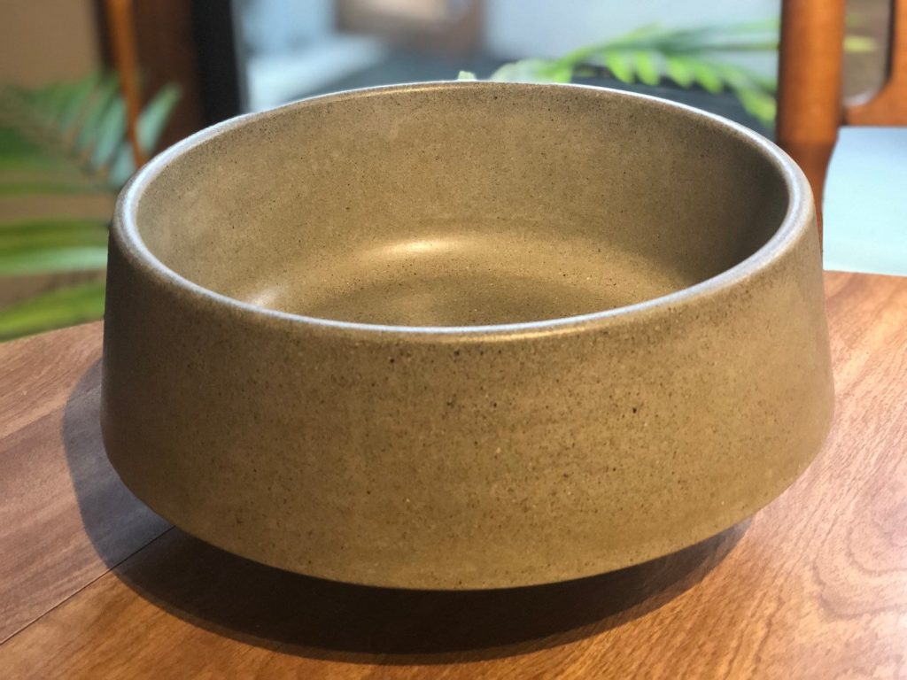 Concrete dog bowl from ArtistryDIrect via Etsy.