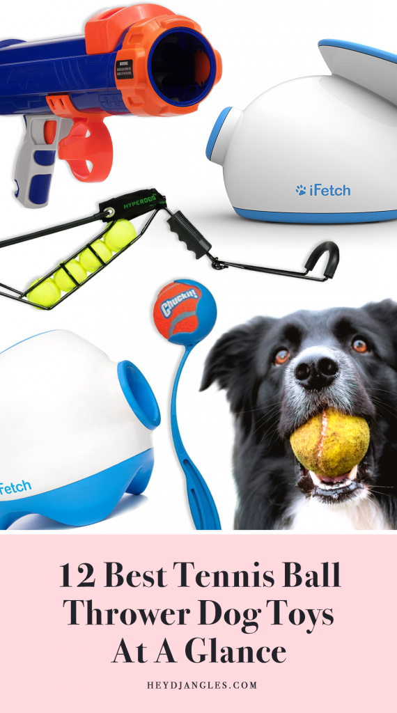 12 BEST TENNIS BALL THROWER DOG TOYS AT A GLANCE IN 2020 - manual and automatic tennis ball launcher dog toys, tennis ball guns and ball slingshots for dogs.