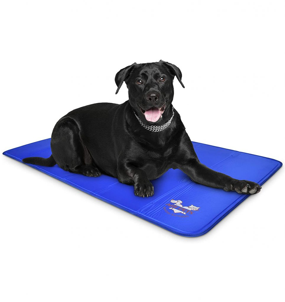 Dog cooling aids - Image via Amazon, feat. Arf Pets Self-Cooling Dog Mat.