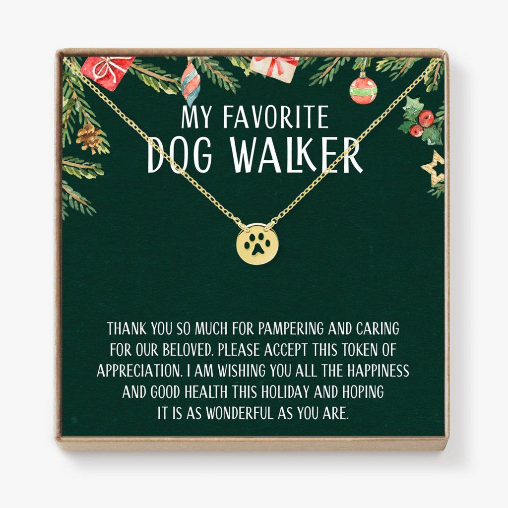 Dog Walker Gift Ideas - Dog Walker Paw Print Necklace via Etsy.
