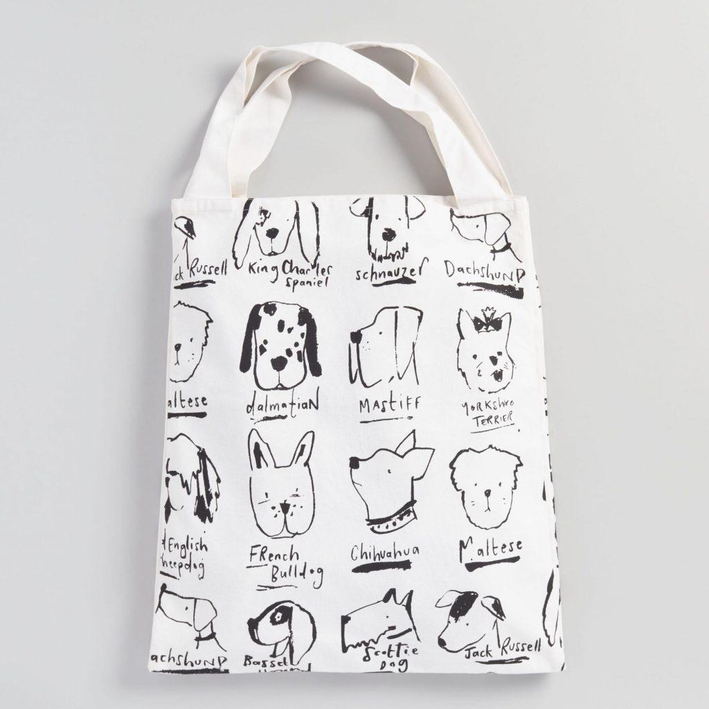 Dog Illustrations Tote bag from World Market.